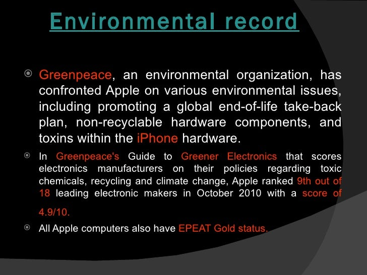 apple inc sociocultural environmental concerns Apple, inc case assignment apple, inc has been named one of the some of the general environmental issues that affect socio-cultural environment.