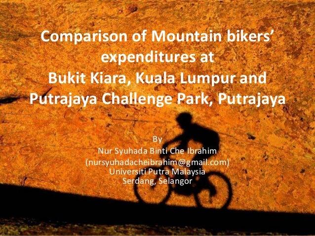 Comparison of Mountain bikers'expenditures atBukit Kiara, Kuala Lumpur andPutrajaya Challenge Park, PutrajayaByNur Syuhada...