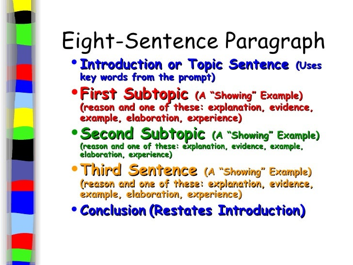 good topic sentence examples