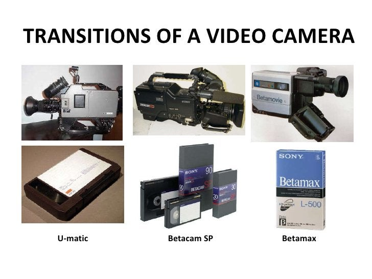TRANSITIONS OF A VIDEO CAMERA U-matic Betacam SP Betamax