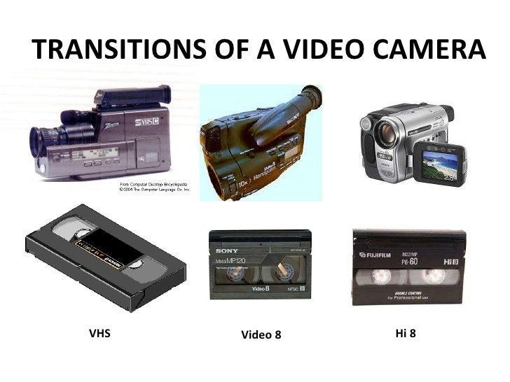 TRANSITIONS OF A VIDEO CAMERA VHS Video 8 Hi 8