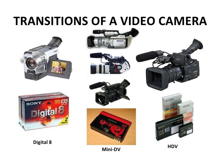 TRANSITIONS OF A VIDEO CAMERA Digital 8 Mini-DV HDV