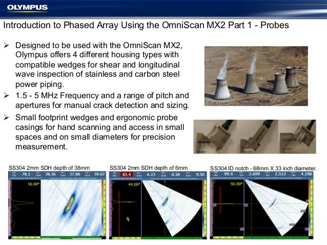 Introduction to Phased Array Using the OmniScan MX2 Part 1 - Probes Ø Designed to be used with the OmniScan MX2, Olympus...