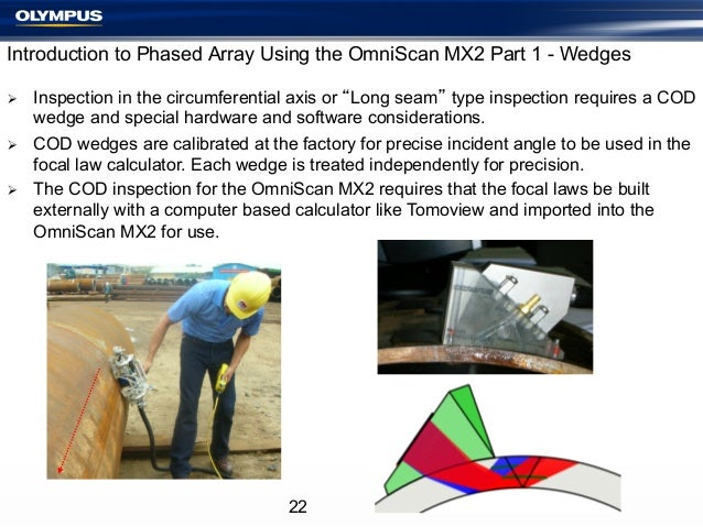 Introduction to Phased Array Using the OmniScan MX2 Part 1 - Wedges Ø Ø Ø  Inspection in the circumferential axis or...