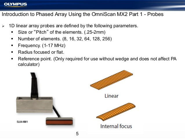 Introduction to Phased Array Using the OmniScan MX2 Part 1 - Probes Ø  1D linear array probes are defined by the followi...