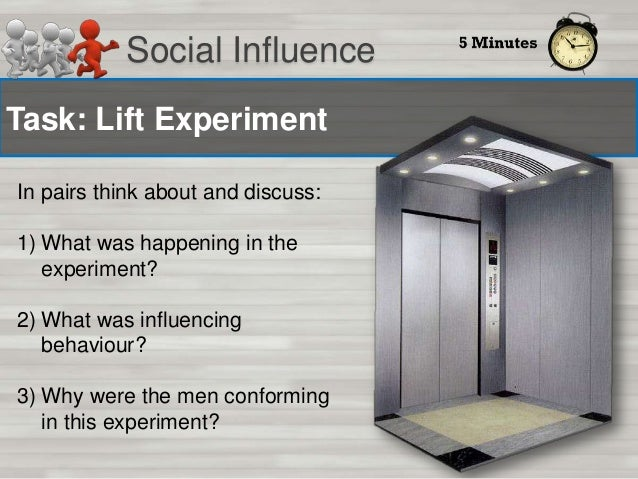 Social Influence Why do we conform? Normative influence  E.g. Facebook: 'Be the first of your friends to like this'