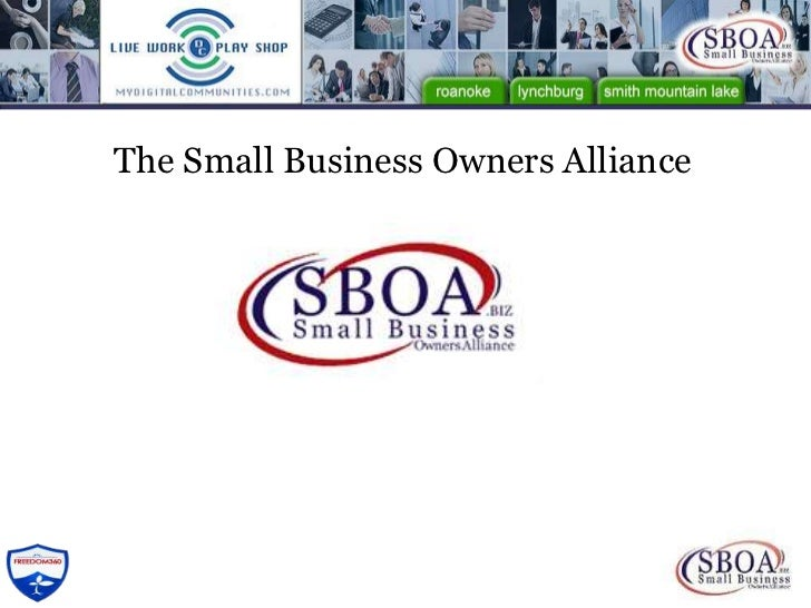 The Small Business Owners Alliance<br />