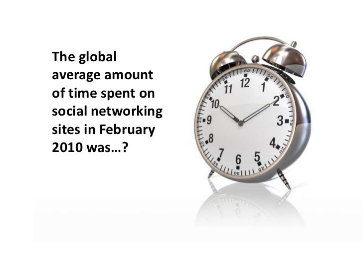 The global average amount of time spent on social networking sites in February 2010 was…?<br />