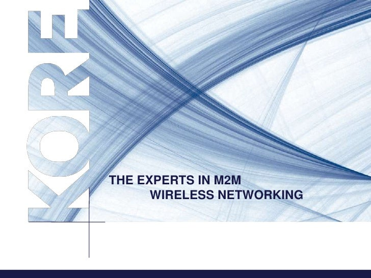 THE EXPERTS IN M2M      WIRELESS NETWORKING