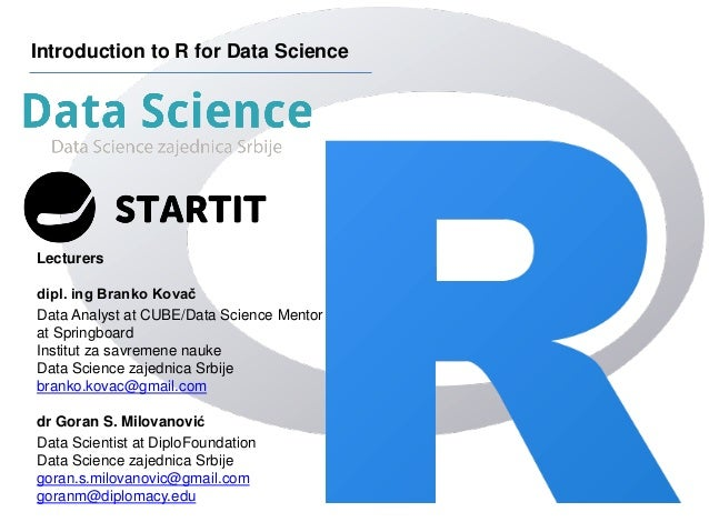 Introduction to R for Data Science :: Session 1