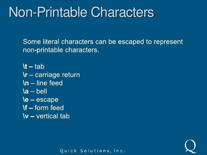 Special Characters<br />You can match special characters by escaping them with a backslash.<br />1+1=2<br />I wrote 1+1=2 ...