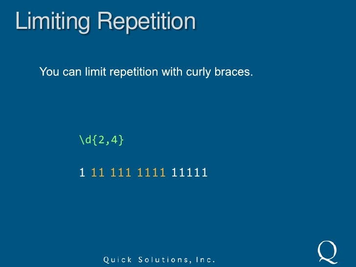 Alternation<br />Use parenthesis to group alternating matches when you want to limit the reach of alternation.<br />(cat ...