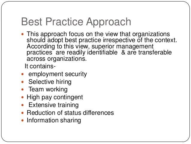 best fit vs best practice pdf