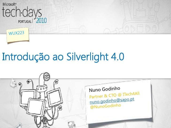Introdução ao Silverlight 4.0