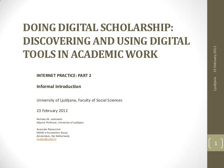 DOING DIGITAL SCHOLARSHIP:DISCOVERING AND USING DIGITAL                                                        23 February...