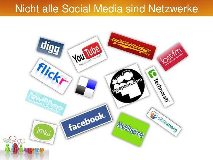 Nicht alle Social Media sind Netzwerke