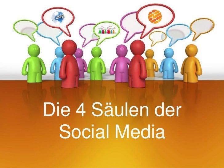Die 4 Säulen der  Social Media