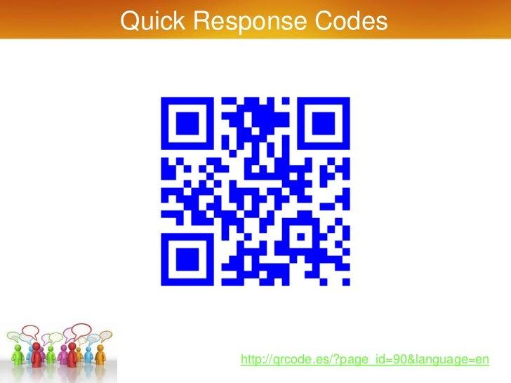 Quick Response Codes        http://qrcode.es/?page_id=90&language=en