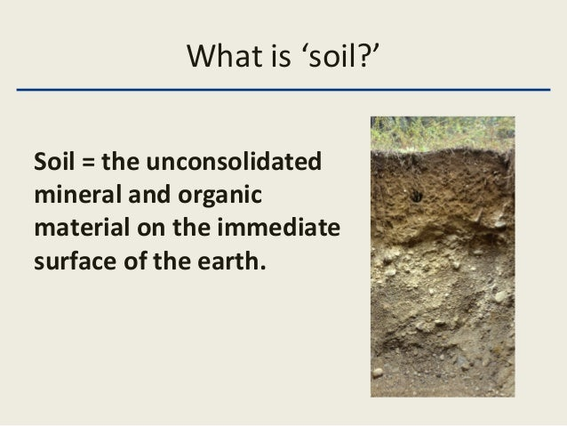 Intro soils lecture 1a for Define organic soil