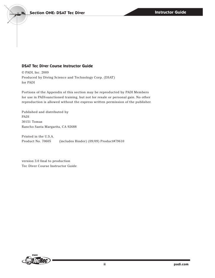 padi open water diver manual answers