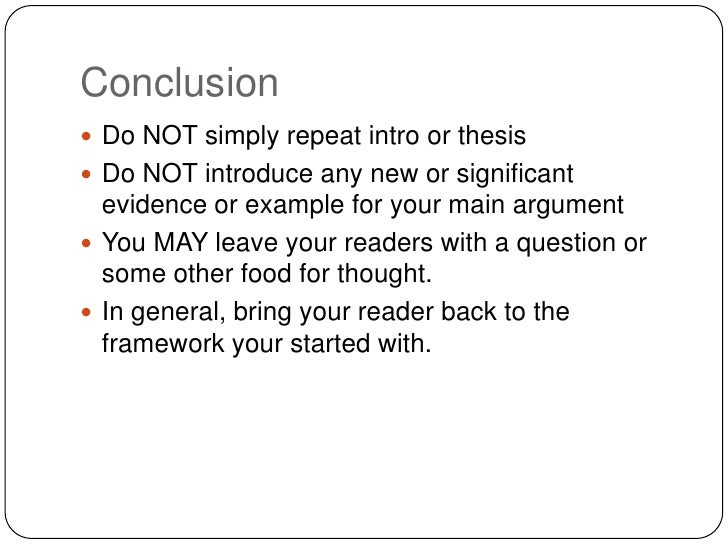 framing your essay conclusion<br