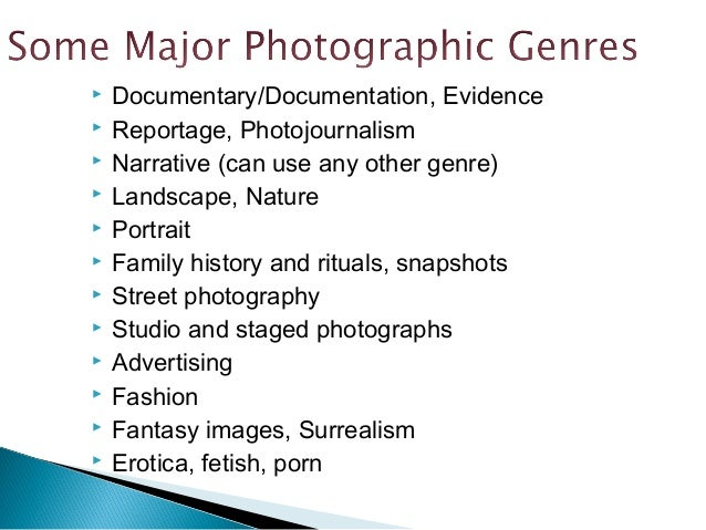 photography genres