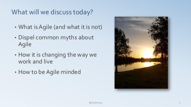 Intro to Agile  - Heidi Araya Slide 3
