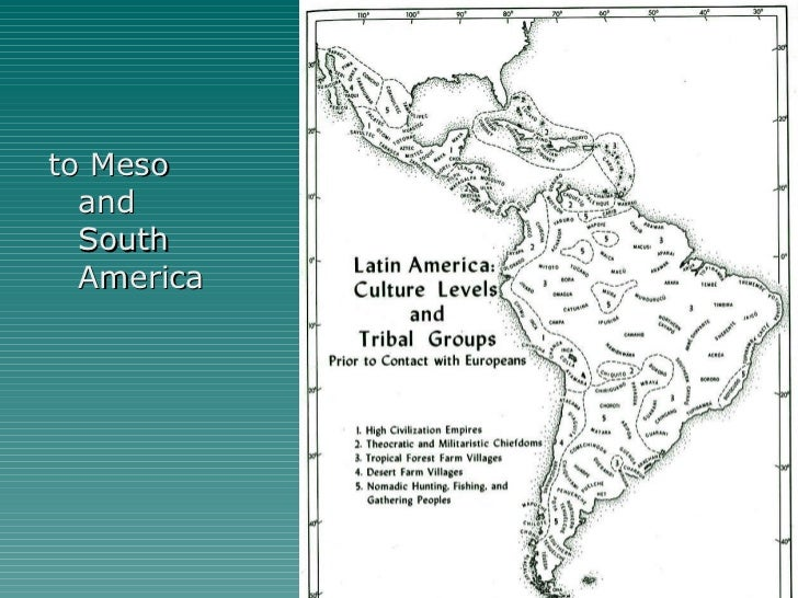 <ul><li>to Meso and South America </li></ul>