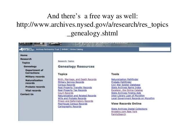 Intro to ancestry com