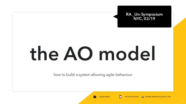 : HEIDELBERG : +4916099872449 PIERRE.NEIS@AGILESQR.COM the AO model how to build a system allowing agile behaviour 1 RA _U...