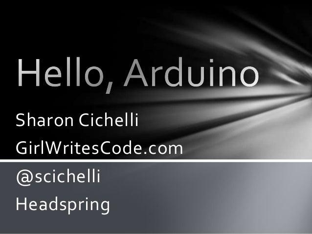 Sharon CichelliGirlWritesCode.com@scichelliHeadspring