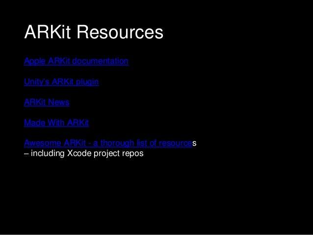 Intro to Arkit - ARKit NYC Meetup - 7 20 17