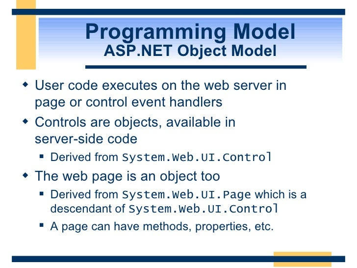 Intro To Asp Net And Web Forms