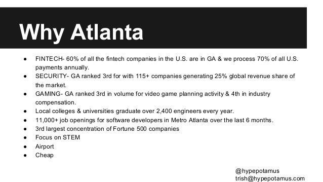 Intro to ATL Startups  Slide 3
