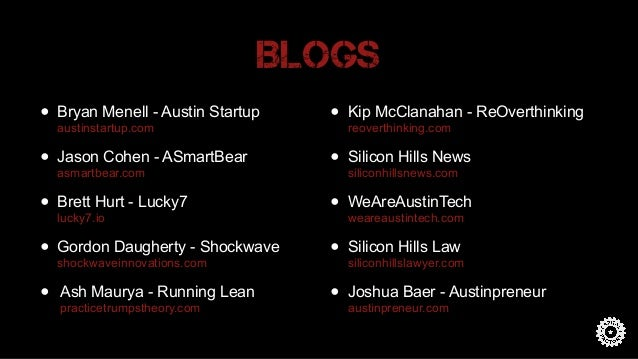 Associations • Austin Chamber Michele Skelding • Austin Technology Council (ATC) Julie Huls • Brazos Tech District • Downt...