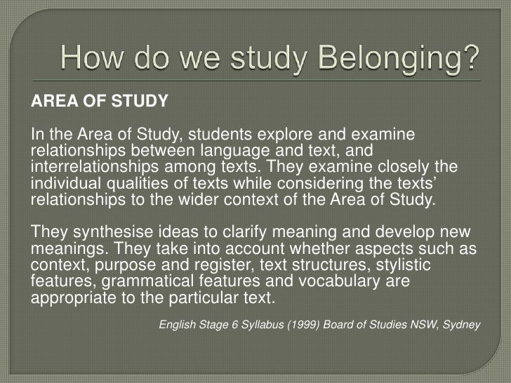 Belonging - An Introduction