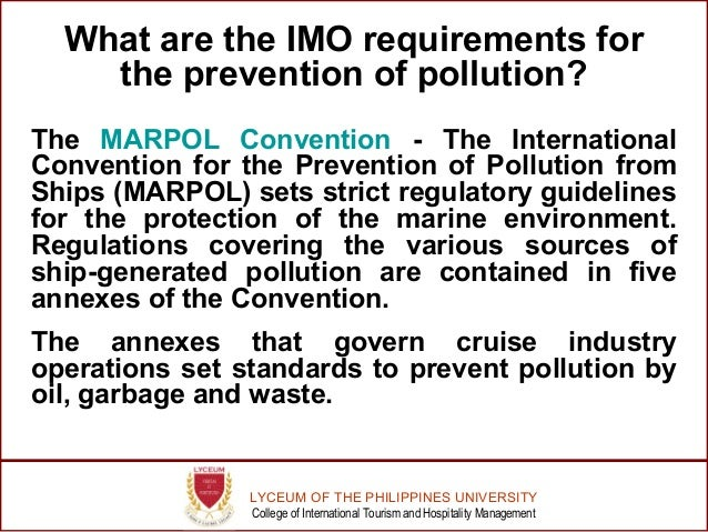 an introduction to marpol or the international convention for the prevention of pollution from ships