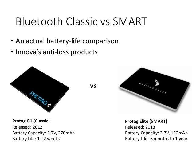Bluetooth Classic vs SMART • An actual battery-life comparison • Innova's anti-loss products vs Protag G1 (Classic) Releas...