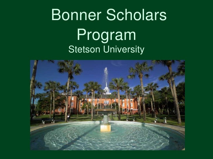 Bonner Scholars Program<br />Stetson University <br />