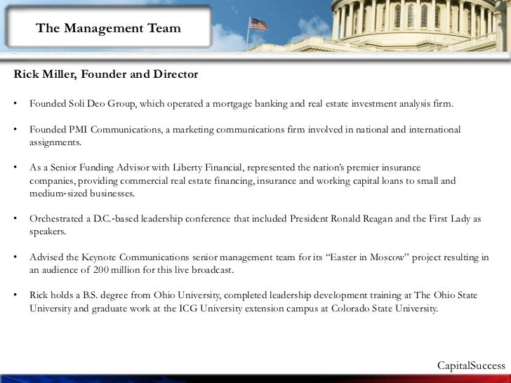 Intro To Capital Success Ceo 1.51 Slide 3