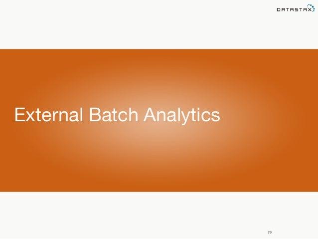 79  External Batch Analytics