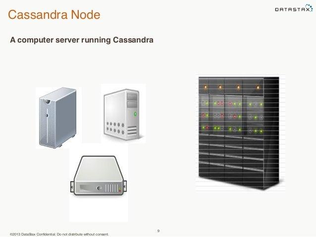 Cassandra Node  ©2013 DataStax Confidential. Do not distribute without consent.  9  A computer server running Cassandra