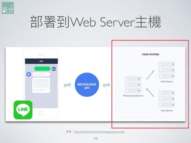 部署到Web Server主機 135 來來源:https://developers.line.me/messaging-api/overview