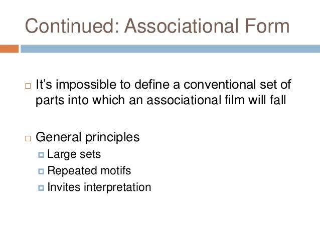 Intro to cinema powerpoint: Experimental