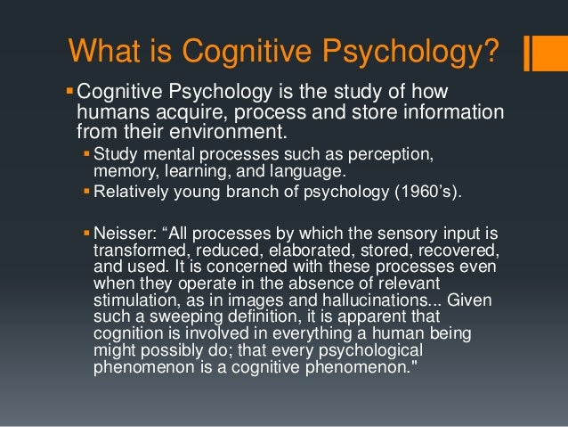 Intro To Cognitive Psych Pp