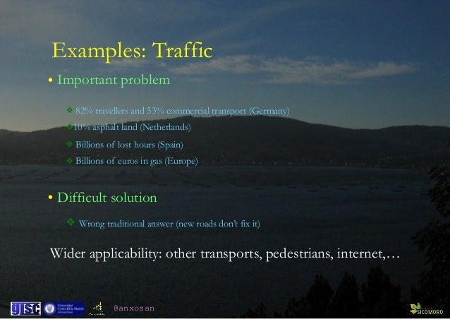 @anxosan • Important problem ❖ 82% travellers and 53% commercial transport (Germany) ❖10% asphalt land (Netherlands) ❖ Bil...