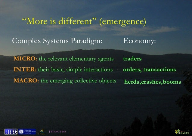 @anxosan MICRO: the relevant elementary agents INTER: their basic, simple interactions MACRO: the emerging...