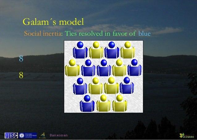 @anxosan 8 8 Galam´s model Social inertia: Ties resolved in favor of blue