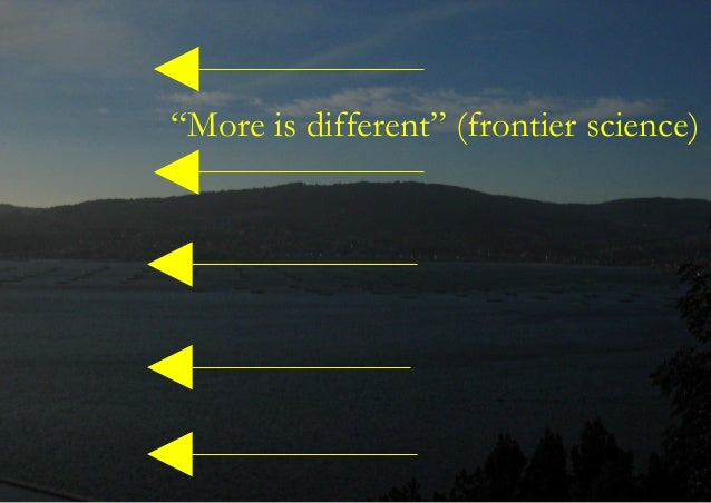 """""""More is different"""" (frontier science)"""