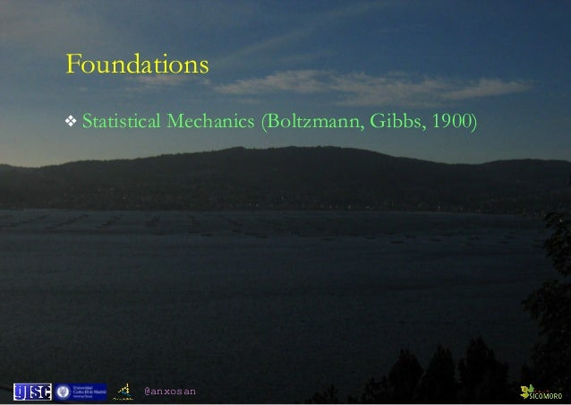 @anxosan Foundations ❖ Statistical Mechanics (Boltzmann, Gibbs, 1900)